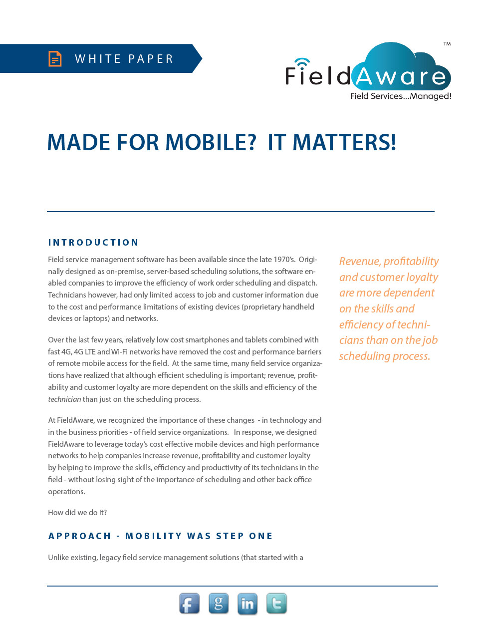 Made for Mobile? It Matters! White Paper
