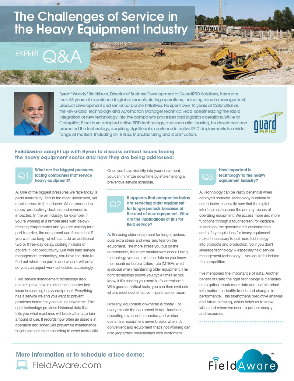The Challenges Of Service In The Heavy Equipment Industry White Paper