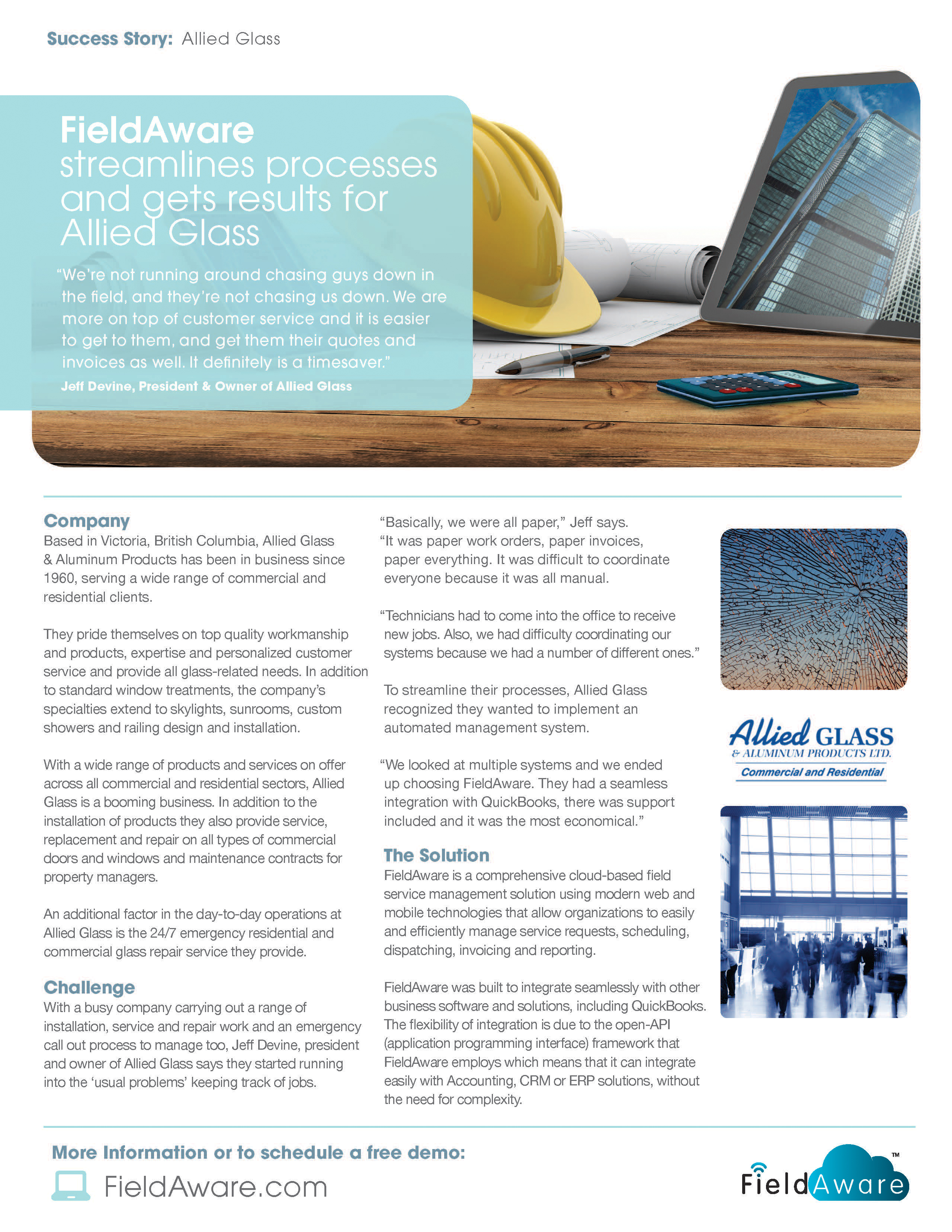 Allied glass case study