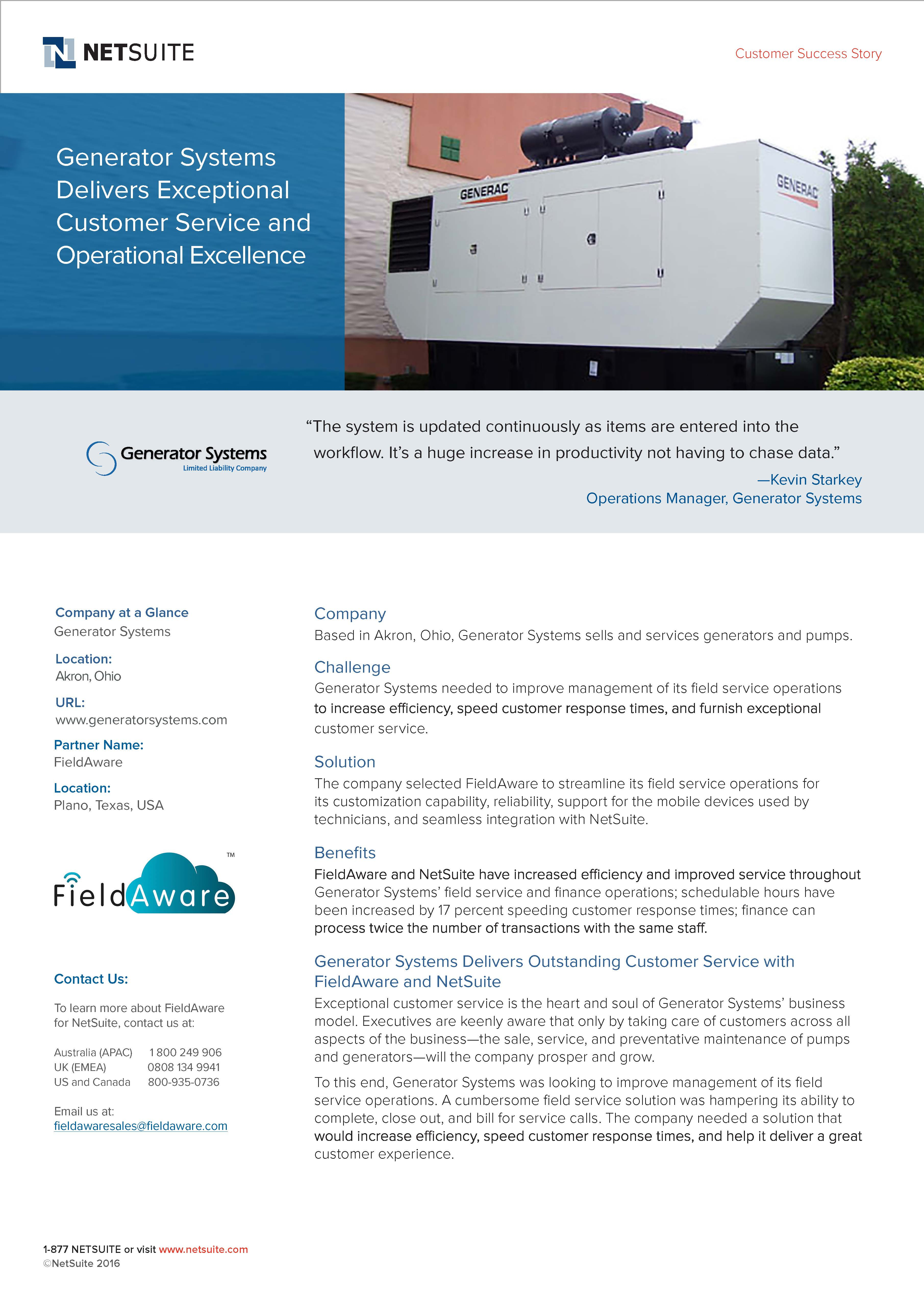 Generator Systems case study