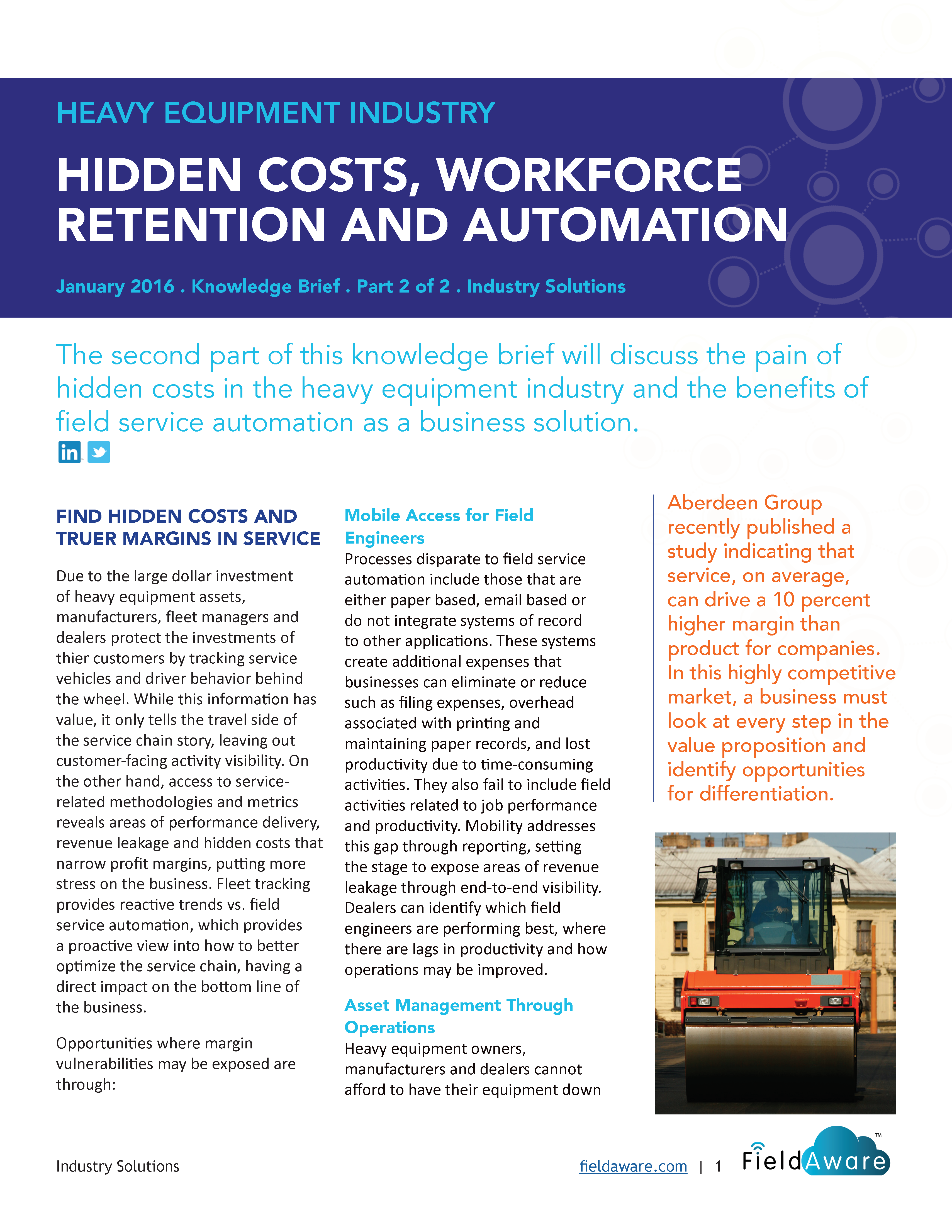 Heavy Equipment Industry Hidden Costs, Workforce Retention And Automation - Part 2 White Paper